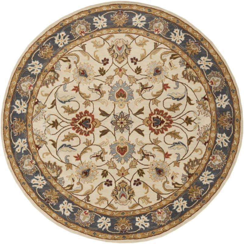 Surya CAE-1125 Caesar Hand Tufted Wool Rug Gold 8 Round Home Decor