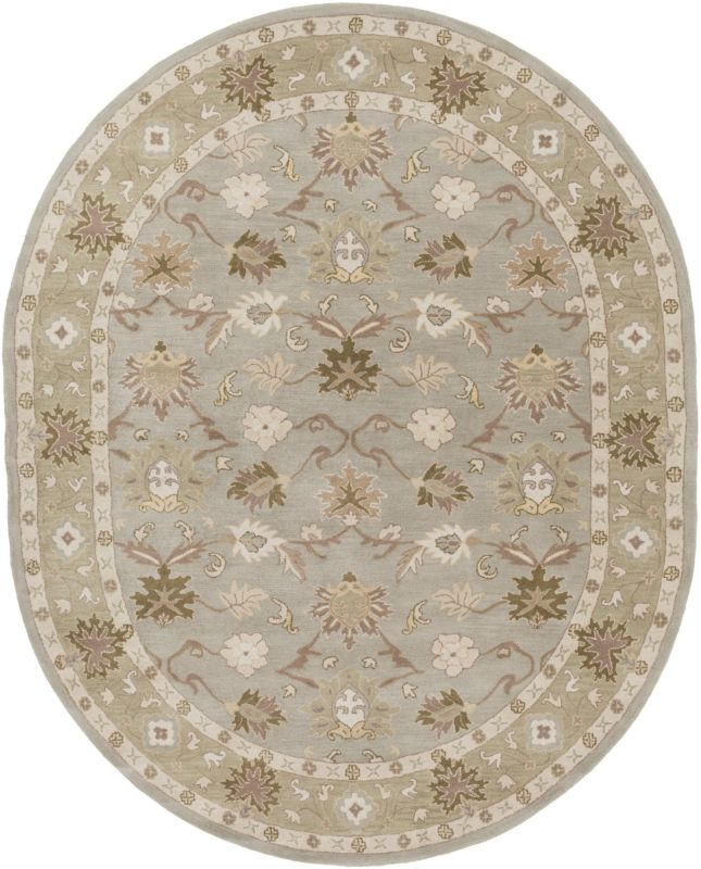 Surya CAE-1126 Caesar Hand Tufted Wool Rug Gray 8 x 10 Oval Home Decor Sale $904.20 ITEM: bci2669783 ID#:CAE1126-810OV UPC: 764262939033 :