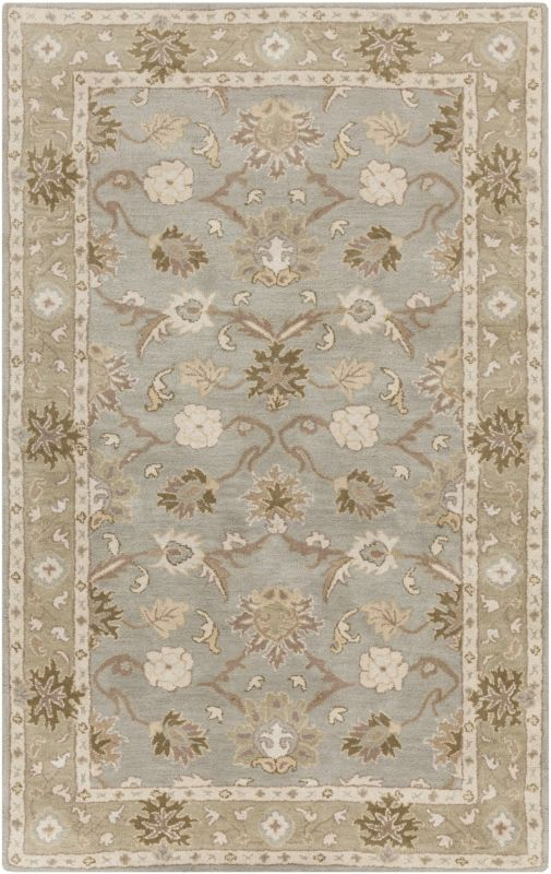 Surya CAE-1126 Caesar Hand Tufted Wool Rug Gray 8 x 11 Home Decor Rugs