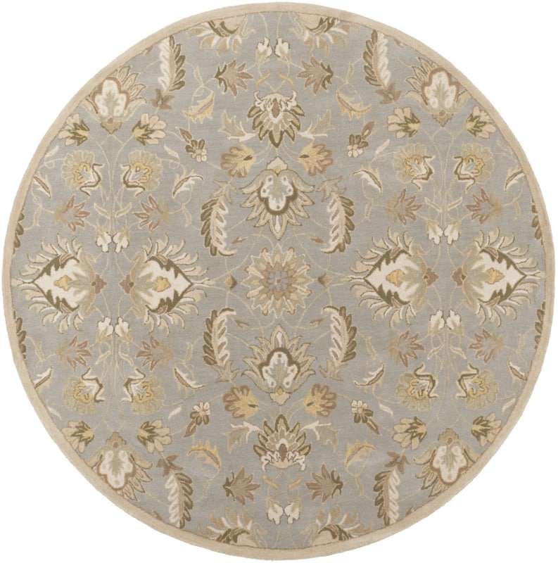 Surya CAE-1140 Caesar Hand Tufted Wool Rug Green 8 Round Home Decor