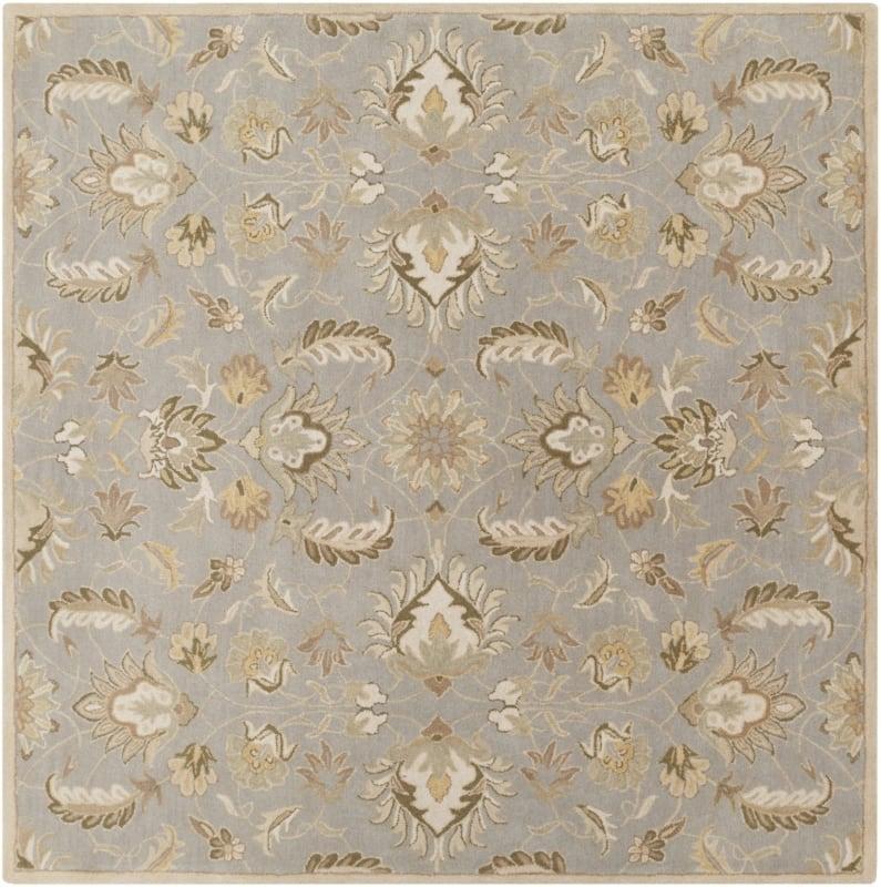 Surya CAE-1140 Caesar Hand Tufted Wool Rug Green 8 Square Home Decor