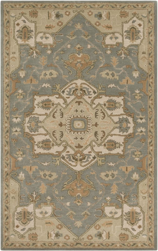 Surya CAE-1144 Caesar Hand Tufted Wool Rug Green 4 x 6 Home Decor Rugs