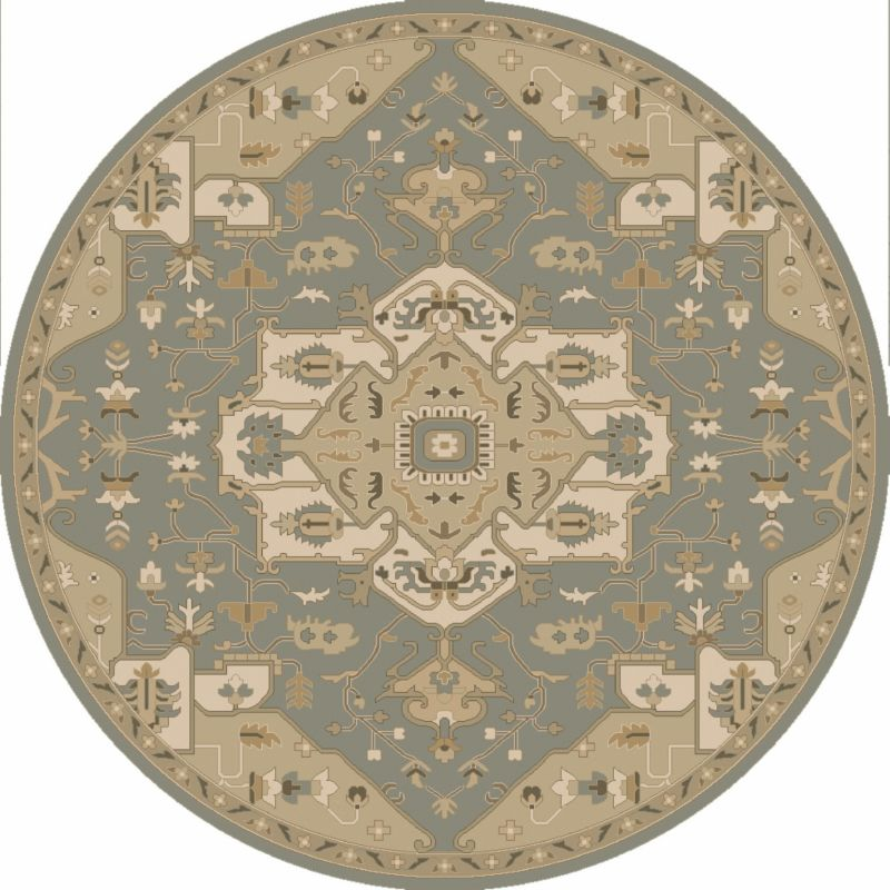 Surya CAE-1144 Caesar Hand Tufted Wool Rug Green 4 Round Home Decor