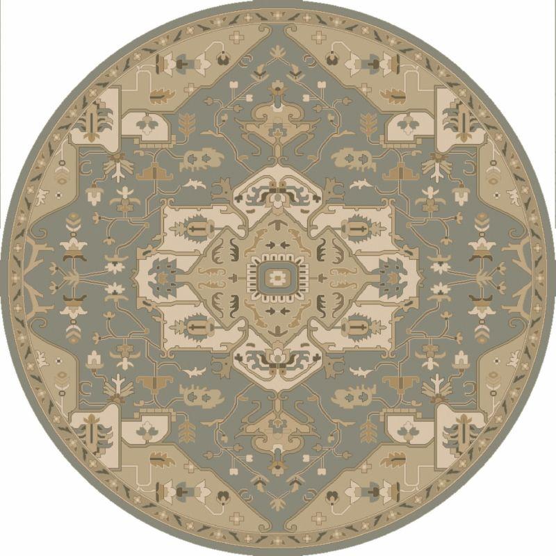 Surya CAE-1144 Caesar Hand Tufted Wool Rug Green 6 Round Home Decor Sale $408.60 ITEM: bci2670334 ID#:CAE1144-6RD UPC: 888473065289 :
