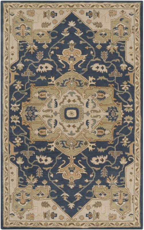 Surya CAE-1145 Caesar Hand Tufted Wool Rug Blue 12 x 15 Home Decor