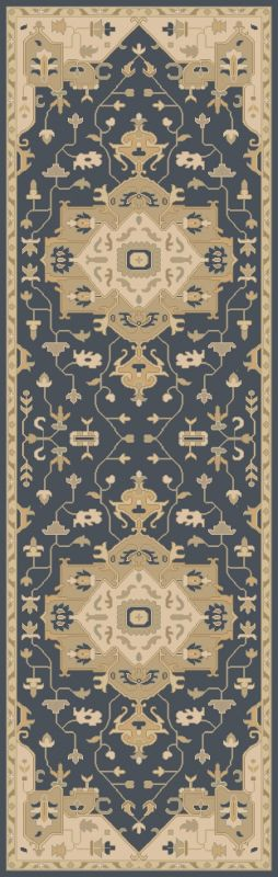 Surya CAE-1145 Caesar Hand Tufted Wool Rug Blue 2 1/2 x 8 Home Decor
