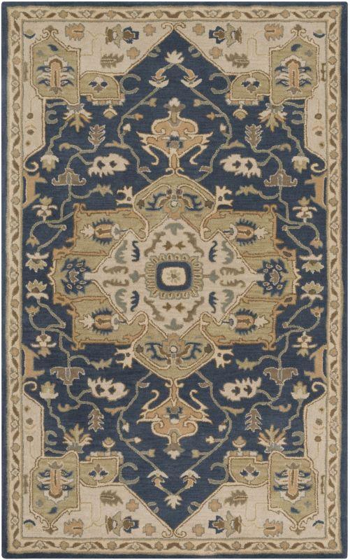 Surya CAE-1145 Caesar Hand Tufted Wool Rug Blue 5 x 8 Home Decor Rugs