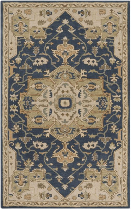Surya CAE-1145 Caesar Hand Tufted Wool Rug Blue 6 x 9 Home Decor Rugs