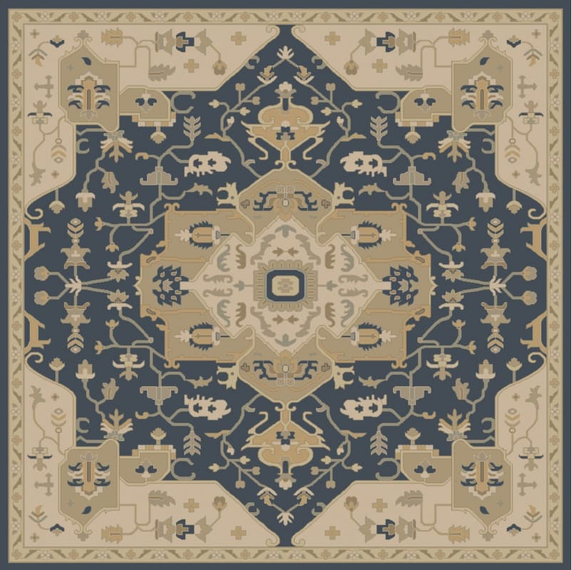 Surya CAE-1145 Caesar Hand Tufted Wool Rug Blue 6 Square Home Decor