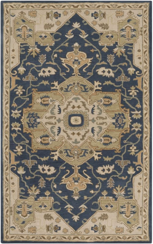 Surya CAE-1145 Caesar Hand Tufted Wool Rug Blue 8 x 11 Home Decor Rugs