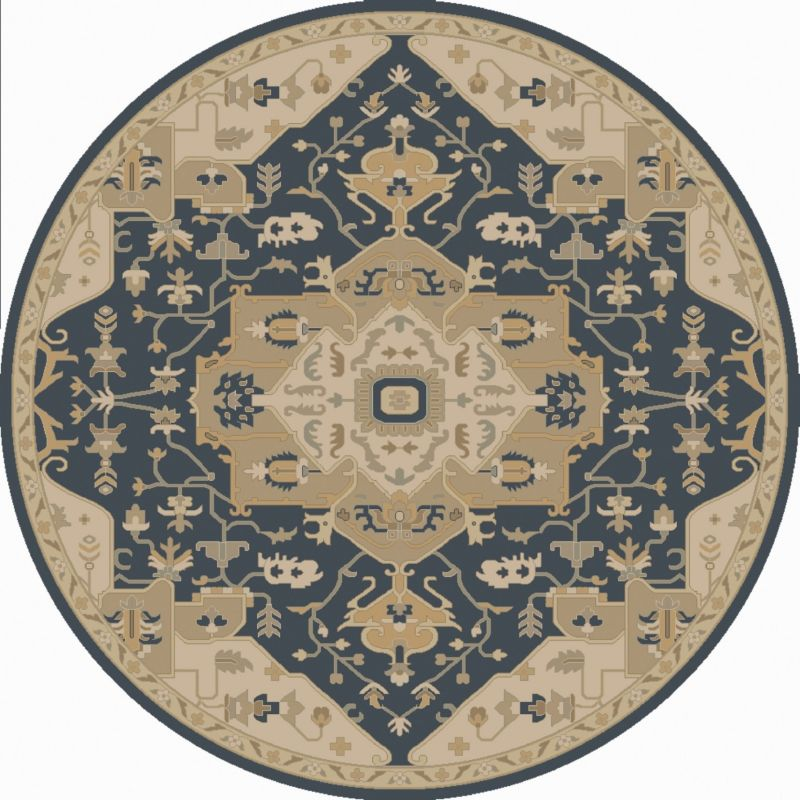 Surya CAE-1145 Caesar Hand Tufted Wool Rug Blue 10 Round Home Decor