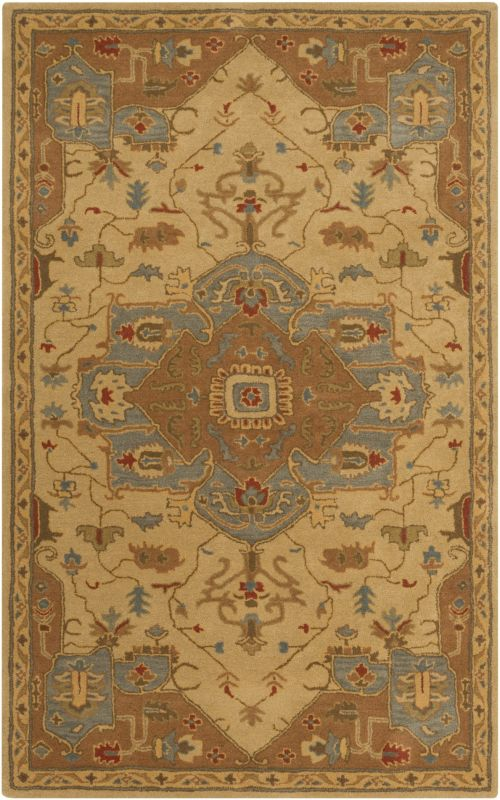 Surya CAE-1146 Caesar Hand Tufted Wool Rug Gold 2 x 3 Home Decor Rugs