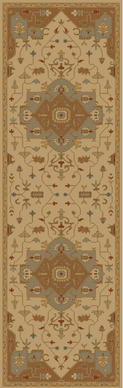 Surya CAE-1146 Caesar Hand Tufted Wool Rug Gold 2 1/2 x 8 Home Decor
