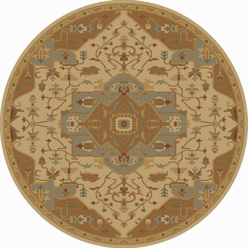 Surya CAE-1146 Caesar Hand Tufted Wool Rug Gold 4 Round Home Decor