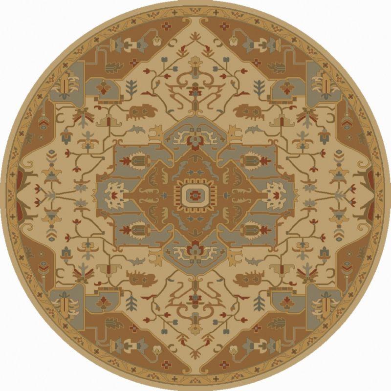 Surya CAE-1146 Caesar Hand Tufted Wool Rug Gold 6 Round Home Decor