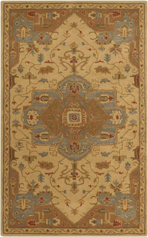 Surya CAE-1146 Caesar Hand Tufted Wool Rug Gold 7 1/2 x 9 1/2 Home