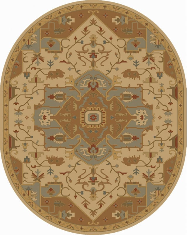 Surya CAE-1146 Caesar Hand Tufted Wool Rug Gold 8 x 10 Oval Home Decor