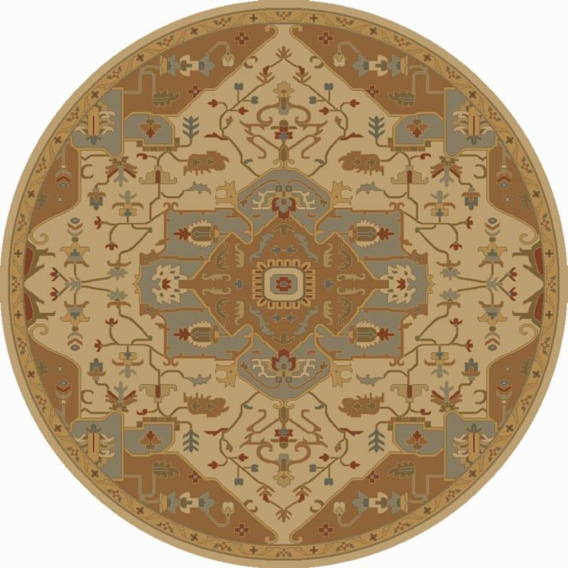 Surya CAE-1146 Caesar Hand Tufted Wool Rug Gold 8 Round Home Decor