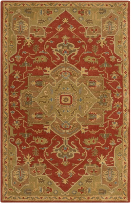 Surya CAE-1147 Caesar Hand Tufted Wool Rug Red 12 x 15 Home Decor Rugs