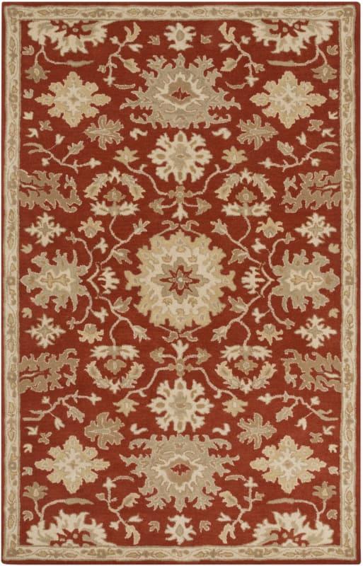 Surya CAE-1148 Caesar Hand Tufted Wool Rug Red 4 x 6 Home Decor Rugs Sale $271.80 ITEM: bci2670416 ID#:CAE1148-46 UPC: 888473066149 :