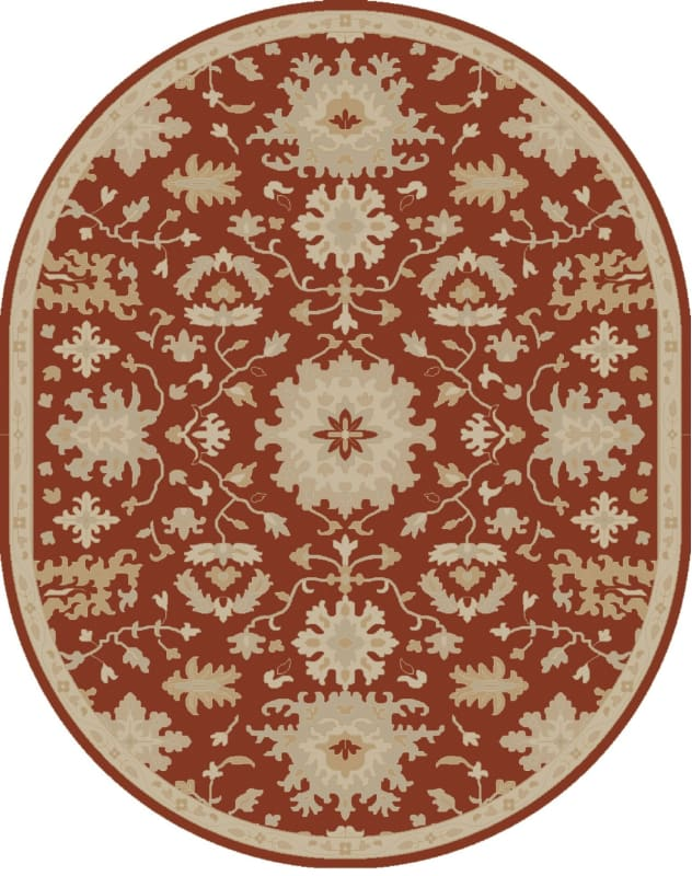 Surya CAE-1148 Caesar Hand Tufted Wool Rug Red 8 x 10 Oval Home Decor Sale $904.20 ITEM: bci2670425 ID#:CAE1148-810OV UPC: 888473066330 :