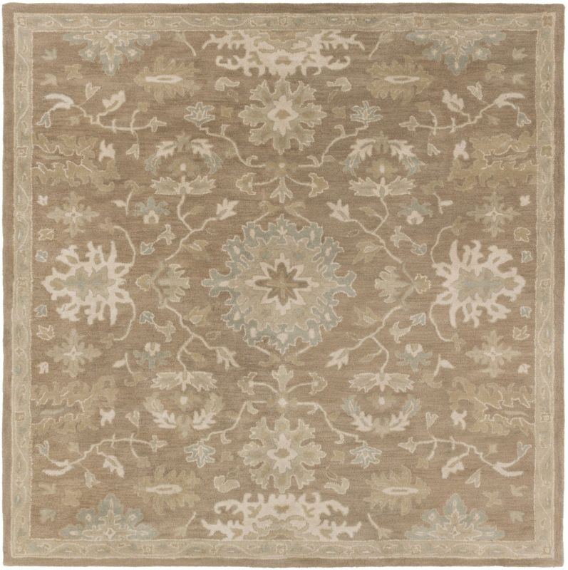 Surya CAE-1149 Caesar Hand Tufted Wool Rug Brown 4 Square Home Decor Sale $182.40 ITEM: bci2670440 ID#:CAE1149-4SQ UPC: 888473066507 :