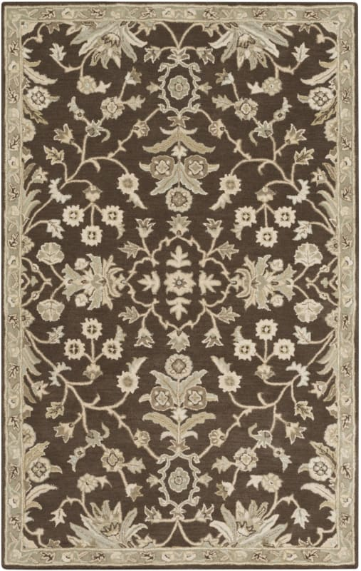 Surya CAE-1150 Caesar Hand Tufted Wool Rug Brown 5 x 8 Home Decor Rugs Sale $369.60 ITEM: bci2670463 ID#:CAE1150-58 UPC: 888473066590 :