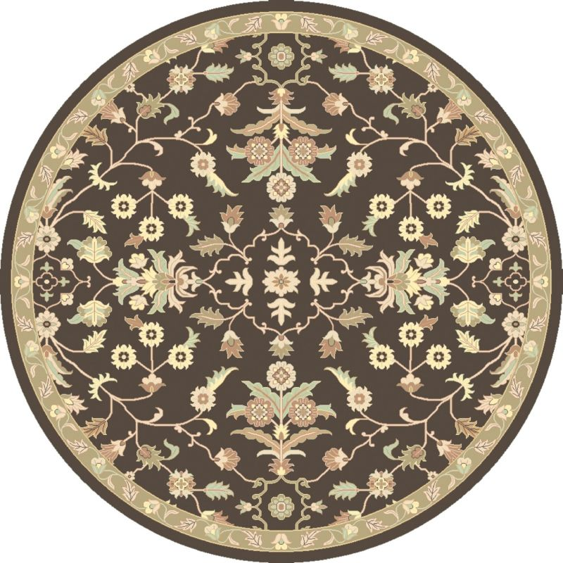 Surya CAE-1150 Caesar Hand Tufted Wool Rug Brown 6 Round Home Decor Sale $408.60 ITEM: bci2670466 ID#:CAE1150-6RD UPC: 888473066606 :