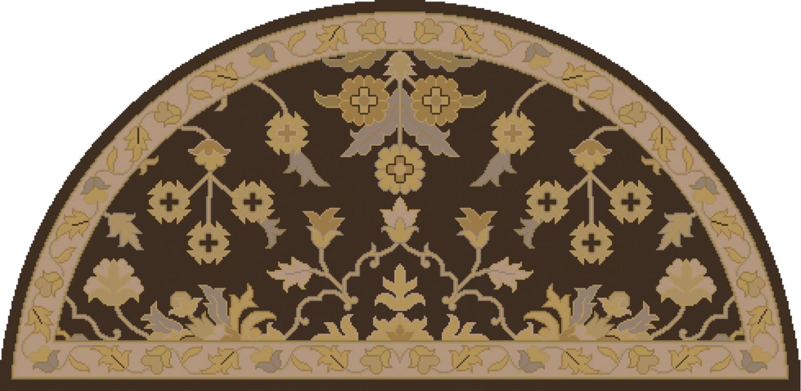 Surya CAE-1151 Caesar Hand Tufted Wool Rug Brown 2 x 4 Hearth Home