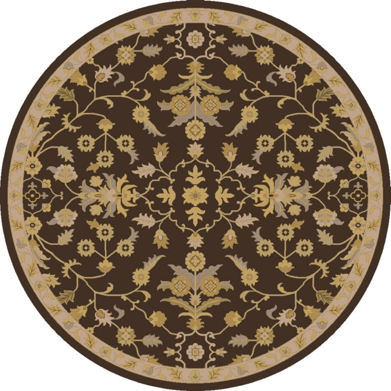 Surya CAE-1151 Caesar Hand Tufted Wool Rug Brown 6 Round Home Decor Sale $408.60 ITEM: bci2669838 ID#:CAE1151-6RD UPC: 888473066828 :