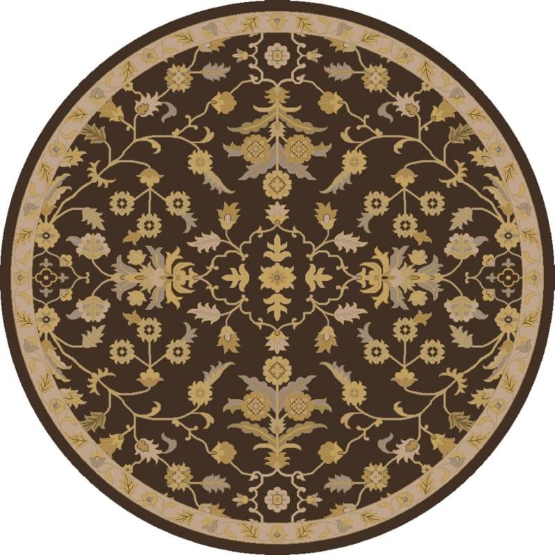 Surya CAE-1151 Caesar Hand Tufted Wool Rug Brown 8 Round Home Decor Sale $722.40 ITEM: bci2669843 ID#:CAE1151-8RD UPC: 888473066859 :