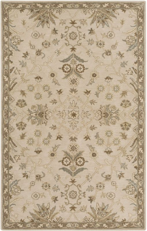 Surya CAE-1152 Caesar Hand Tufted Wool Rug Off-White 6 x 9 Oval Home