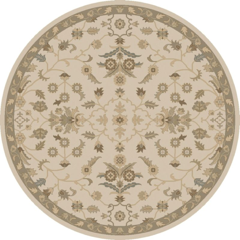 Surya CAE-1152 Caesar Hand Tufted Wool Rug Off-White 6 Round Home Sale $408.60 ITEM: bci2669860 ID#:CAE1152-6RD UPC: 888473067047 :