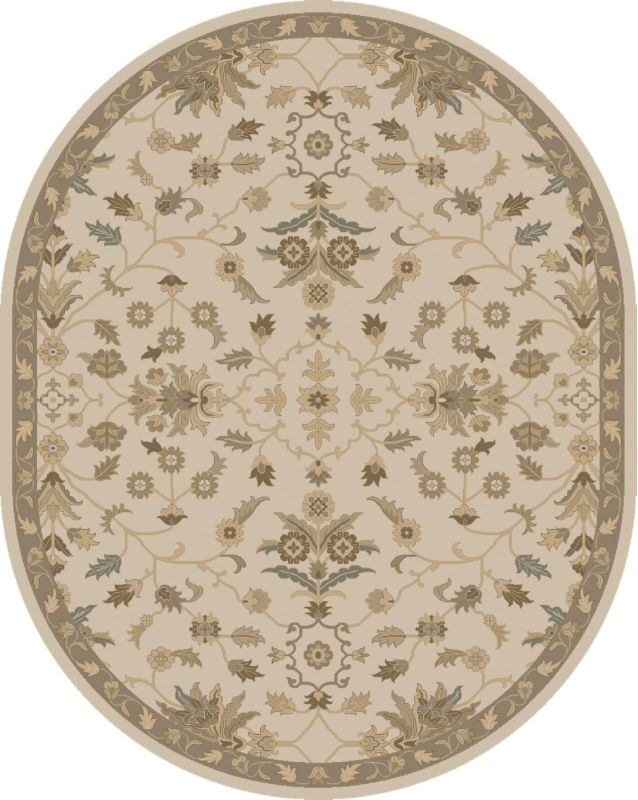 Surya CAE-1152 Caesar Hand Tufted Wool Rug Off-White 8 x 10 Oval Home Sale $904.20 ITEM: bci2669863 ID#:CAE1152-810OV UPC: 888473067214 :