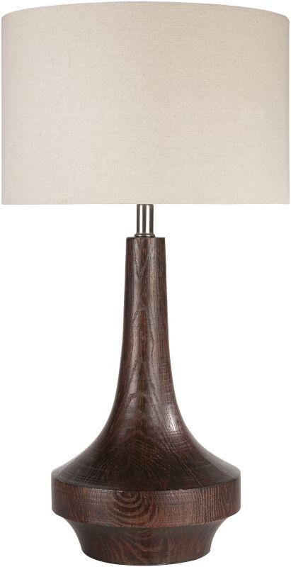 Surya CALP Carson 1 Light Table Lamp Dark Brown Lamps Accent Lamps