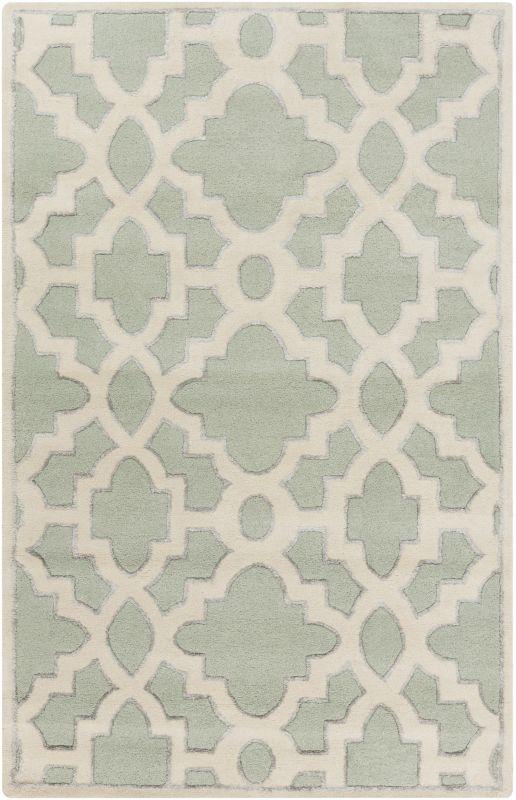 Surya CAN-2039 Modern Classics Hand Tufted New Zealand Wool Rug Green
