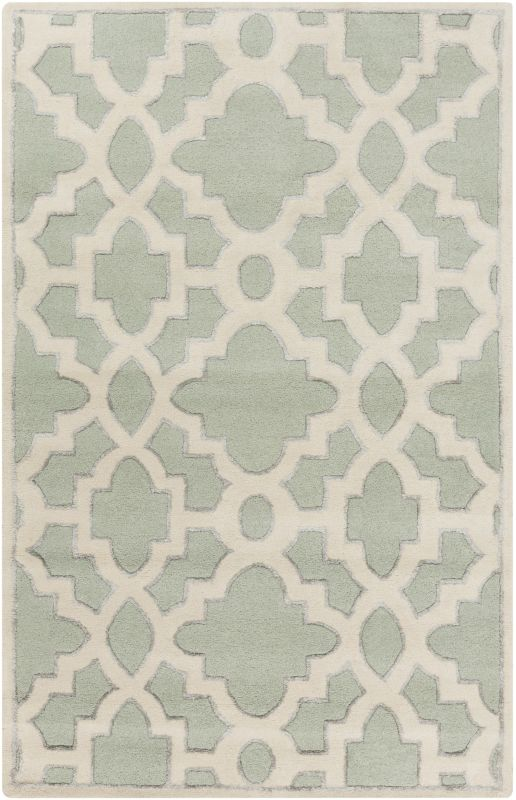 Surya CAN-2039 Modern Classics Hand Tufted New Zealand Wool Rug Green