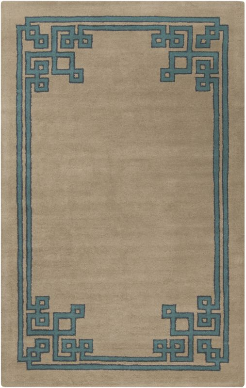 Surya CAV-4010 Calaveras Hand Tufted Wool Rug Blue 5 x 8 Home Decor