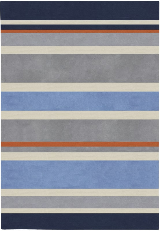 Surya CHI-1040 Chic Hand Tufted Polyester Rug Blue 5 x 7 Home Decor