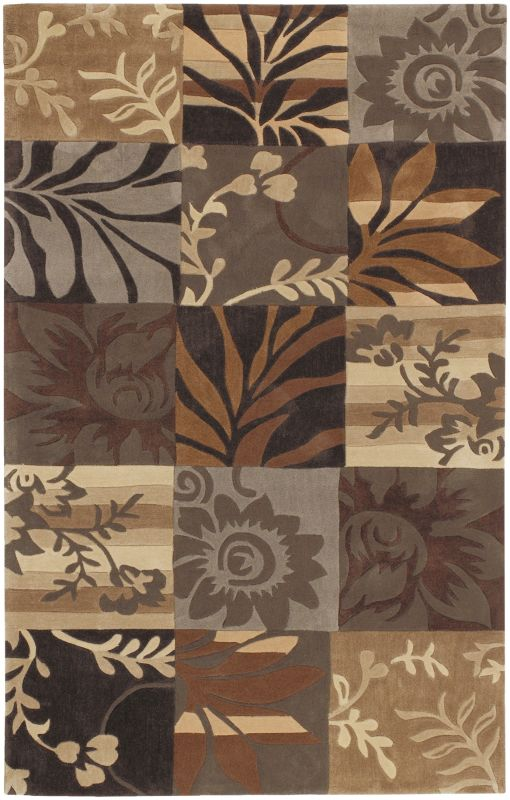 Surya COS-8817 Cosmopolitan Hand Tufted Polyester Rug Brown 2 x 3 Home
