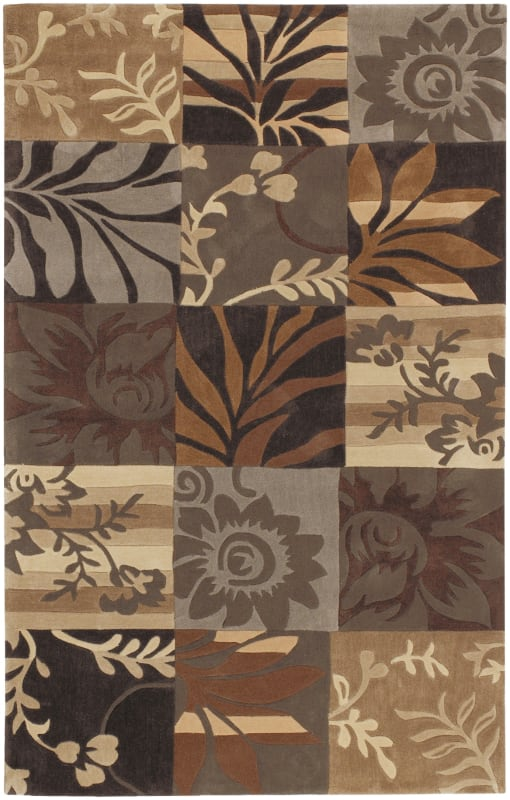 Surya COS-8817 Cosmopolitan Hand Tufted Polyester Rug Brown 5 x 8 Home