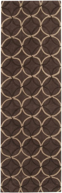 Surya COS-8868 Cosmopolitan Hand Tufted Polyester Rug Brown 2 1/2 x 8