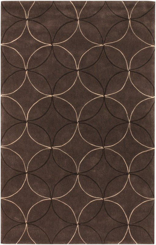 Surya COS-8868 Cosmopolitan Hand Tufted Polyester Rug Brown 3 1/2 x 5