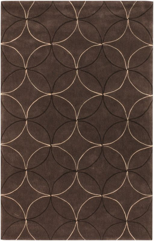 Surya COS-8868 Cosmopolitan Hand Tufted Polyester Rug Brown 8 x 11