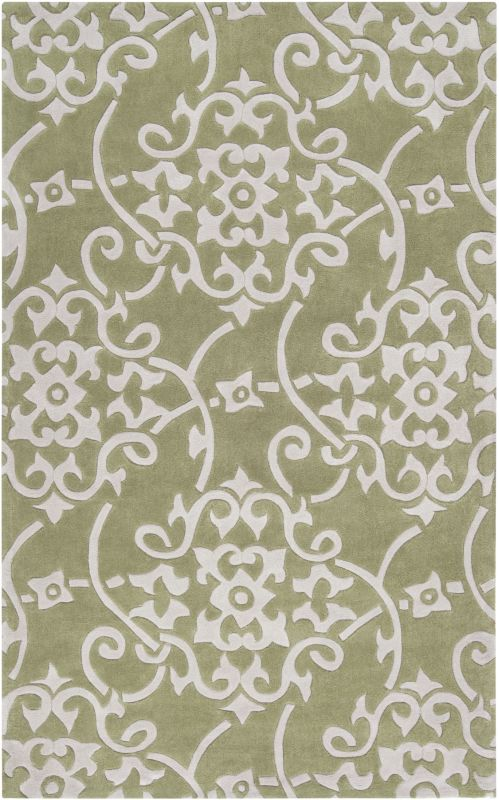 Surya COS-9047 Cosmopolitan Hand Tufted Polyester Rug Green 2 x 3 Home