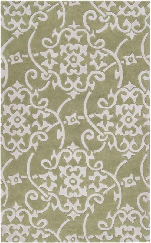 Surya COS-9047 Cosmopolitan Hand Tufted Polyester Rug Green 5 x 8 Home