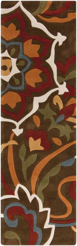 Surya COS-9056 Cosmopolitan Hand Tufted Polyester Rug Brown 2 1/2 x 8