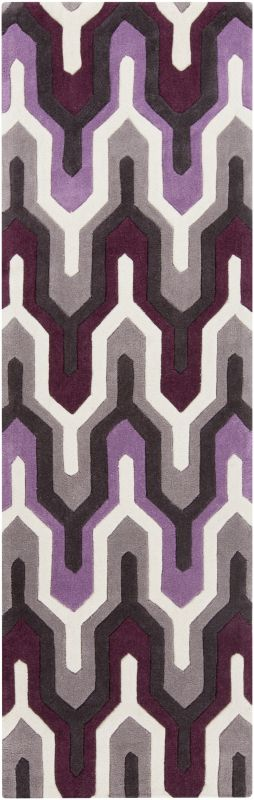 Surya COS-9178 Cosmopolitan Hand Tufted Polyester Rug Purple 2 1/2 x 8