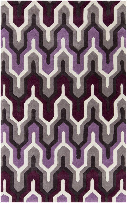 Surya COS-9178 Cosmopolitan Hand Tufted Polyester Rug Purple 5 x 8