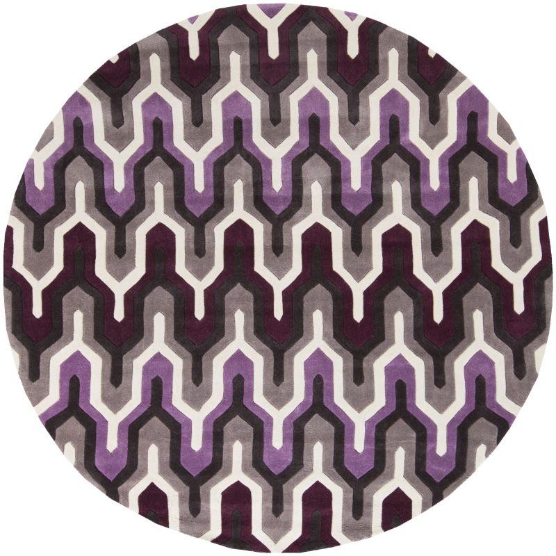 Surya COS-9178 Cosmopolitan Hand Tufted Polyester Rug Purple 8 Round
